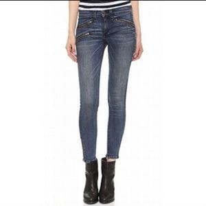 Rag & Bone Skinny Jeans Moto Zip 26
